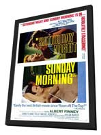 Saturday Night and Sunday Morning - 27 x 40 Movie Poster - Style B - in Deluxe Wood Frame