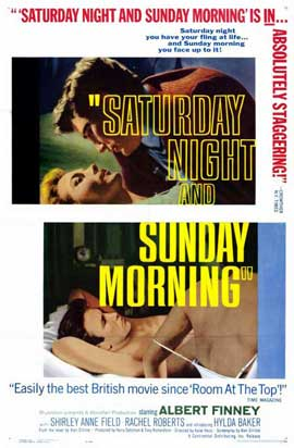 Saturday Night and Sunday Morning - 11 x 17 Movie Poster - Style B
