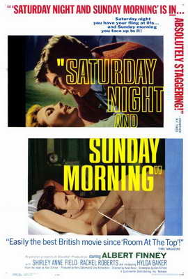 Saturday Night and Sunday Morning - 27 x 40 Movie Poster - Style B