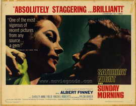 Saturday Night and Sunday Morning - 22 x 28 Movie Poster - Half Sheet Style A