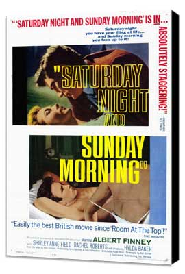 Saturday Night and Sunday Morning - 27 x 40 Movie Poster - Style B - Museum Wrapped Canvas