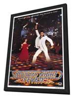 Saturday Night Fever - 11 x 17 Movie Poster - Style A - in Deluxe Wood Frame