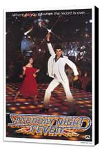 Saturday Night Fever - 11 x 17 Movie Poster - Style A - Museum Wrapped Canvas