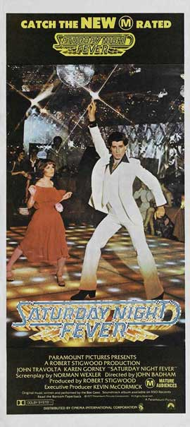 Saturday Night Fever - 13 x 30 Movie Poster - Australian Style A