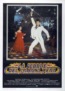 Saturday Night Fever - 27 x 40 Movie Poster - Italian Style A