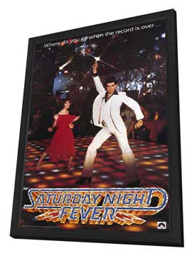Saturday Night Fever - 27 x 40 Movie Poster - Style A - in Deluxe Wood Frame