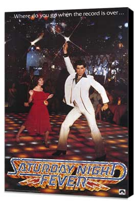 Saturday Night Fever - 27 x 40 Movie Poster - Style A - Museum Wrapped Canvas