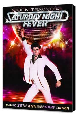 Saturday Night Fever - 27 x 40 Movie Poster - Style E - Museum Wrapped Canvas