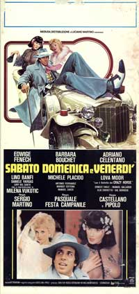 Saturday, Sunday and Friday - 13 x 28 Movie Poster - Italian Style A