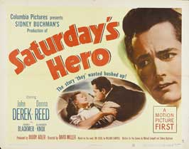 Saturday's Hero - 22 x 28 Movie Poster - Half Sheet Style A