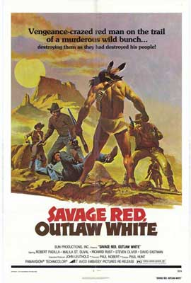 Savage Red Outlaw - 11 x 17 Movie Poster - Style A