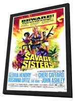 Savage Sisters - 11 x 17 Movie Poster - Style A - in Deluxe Wood Frame