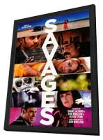 Savages - 27 x 40 Movie Poster - Style A - in Deluxe Wood Frame