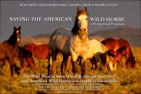 Save the American Wild Horse - 43 x 62 Movie Poster - Bus Shelter Style A