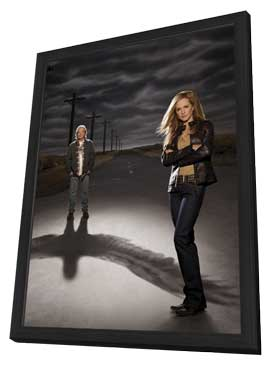 Saving Grace - 11 x 17 TV Poster - Style O - in Deluxe Wood Frame
