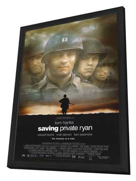 Saving Private Ryan - 11 x 17 Movie Poster - Style A - in Deluxe Wood Frame