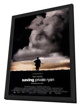 Saving Private Ryan - 11 x 17 Movie Poster - Style B - in Deluxe Wood Frame