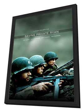Saving Private Ryan - 27 x 40 Movie Poster - Style C - in Deluxe Wood Frame