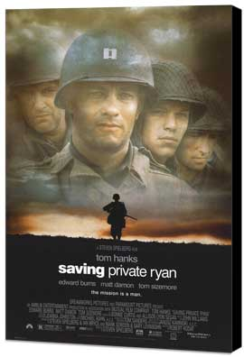 Saving Private Ryan - 11 x 17 Movie Poster - Style A - Museum Wrapped Canvas