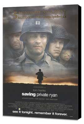Saving Private Ryan - 11 x 17 Movie Poster - Style E - Museum Wrapped Canvas