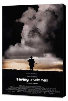 Saving Private Ryan - 27 x 40 Movie Poster - Style B - Museum Wrapped Canvas