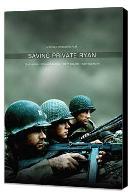 Saving Private Ryan - 27 x 40 Movie Poster - Style C - Museum Wrapped Canvas