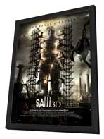 Saw 3D - 27 x 40 Movie Poster - Style C - in Deluxe Wood Frame