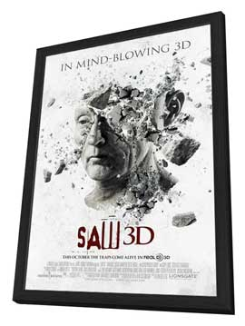 Saw 3D - 11 x 17 Movie Poster - Style A - in Deluxe Wood Frame