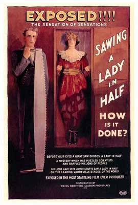 Sawing a Lady in Half - 27 x 40 Movie Poster - Style A