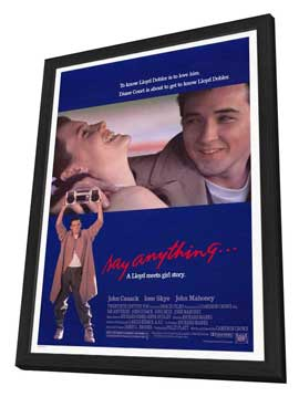 Say Anything - 27 x 40 Movie Poster - Style A - in Deluxe Wood Frame