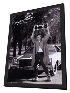 Say Anything - 27 x 40 Movie Poster - Style B - in Deluxe Wood Frame