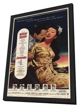 Sayonara - 11 x 17 Movie Poster - Style A - in Deluxe Wood Frame