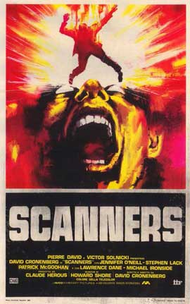 Scanners - 11 x 17 Movie Poster - Italian Style A