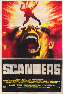 Scanners - 27 x 40 Movie Poster - Italian Style A