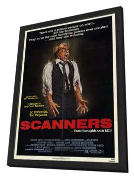Scanners - 27 x 40 Movie Poster - Style A - in Deluxe Wood Frame