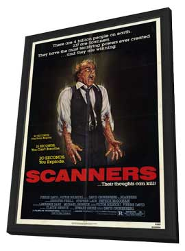 Scanners - 11 x 17 Movie Poster - Style A - in Deluxe Wood Frame