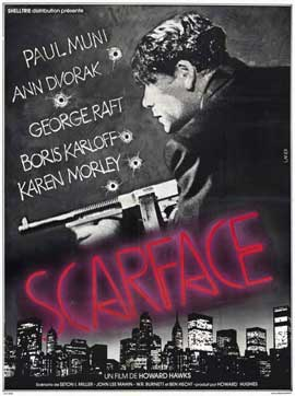 Scarface - 11 x 17 Movie Poster - French Style A