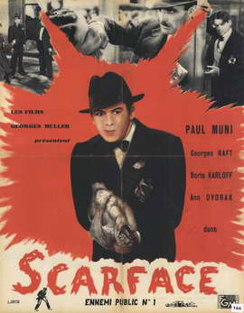 Scarface - 11 x 17 Movie Poster - French Style B
