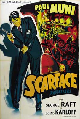 Scarface - 27 x 40 Movie Poster - French Style A
