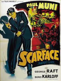 Scarface - 43 x 62 Movie Poster - French Style A