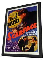 Scarface - 11 x 17 Movie Poster - Style A - in Deluxe Wood Frame