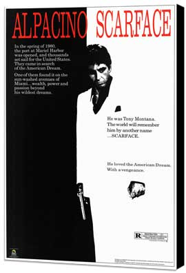 Scarface - 27 x 40 Movie Poster - Style A - Museum Wrapped Canvas