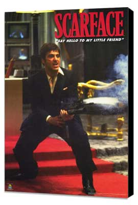 Scarface - 27 x 40 Movie Poster - Style H - Museum Wrapped Canvas