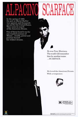 Scarface - Movie Poster - 24 x 36 - Style A