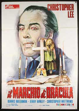 Scars of Dracula - 27 x 40 Movie Poster - Italian Style A