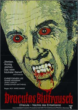 Scars of Dracula - 27 x 40 Movie Poster - German Style B