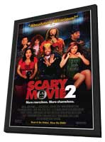 Scary Movie 2 - 27 x 40 Movie Poster - Style A - in Deluxe Wood Frame