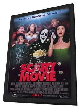Scary Movie - 11 x 17 Movie Poster - Style A - in Deluxe Wood Frame