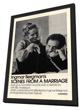 Scenes from a Marriage - 27 x 40 Movie Poster - Style A - in Deluxe Wood Frame