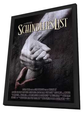 Schindler's List - 11 x 17 Movie Poster - Style A - in Deluxe Wood Frame